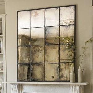 vintage window mirror
